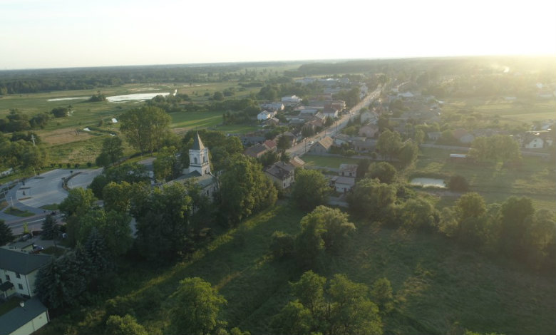 Zdjęcie gminy Klembów z lotu ptaka